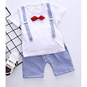 ieftine Set Îmbrăcăminte Băieți Bebeluși-Bebelus Unisex Dungi / Peteci Manșon scurt Set Îmbrăcăminte