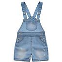 tanie Spodnie dla niemowląt-Dziecko Dla dziewczynek Moda miejska Solidne kolory Bawełna Ogrodniczki / kombinezon Jasnoniebieski / Brzdąc