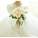 baratos Bouquets de Noiva-Bouquets de Noiva Buquês Casamento / Festa de Casamento Cetim / Tecidos 11-20 cm