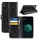 cheap Cell Phone Cases & Screen Protectors-Case For Xiaomi Xiaomi Mi 6X Wallet / Card Holder / with Stand Full Body Cases Solid Colored Hard Genuine Leather for Xiaomi Mi 6X(Mi A2)