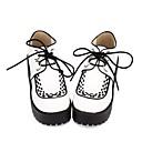 hesapli Lolita Aksesuarları-Ayakkabılar Klasik / Geleneksel Lolita Punk Lolita Punk Zarif Creepers Başlık Zıt Renkli 8 cm CM Beyaz Uyumluluk PU Cadılar Bayramı Kostümleri