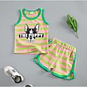 ieftine Set Îmbrăcăminte Băieți Bebeluși-Bebelus Unisex Dungi Fără manșon Set Îmbrăcăminte