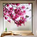 preiswerte Fensterfolie & Aufkleber-Fenster Film & Aufkleber Dekoration Matt / Moderne Blume PVC Fenster-Aufkleber / Matt