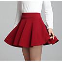 Χαμηλού Κόστους Συνθετικές περούκες χωρίς σκουφί-Γυναικεία Γραμμή Α Εξόδου Μίνι Φούστες - Μονόχρωμο Ψηλή Μέση
