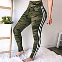 baratos Gargantilhas-Mulheres Para Noite Esportivo Legging - Estampa Colorida Cintura Alta