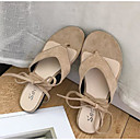 cheap Women's Sandals-Women's Shoes Suede Summer Comfort Sandals Low Heel Beige / Brown / Green