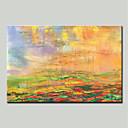 ieftine Picturi Faimoase-Hang-pictate pictură în ulei Pictat manual - Abstract Modern pânză
