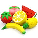 halpa Laukkusetit-LT.Squishies Puristeltava lelu / Lievittää stressiä Fruit Stressiä ja ahdistusta Relief / Dekompressiolelut poly uretaani 6 pcs Children's