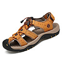 abordables Sandalias de Hombre-Hombre Cuero Verano Confort Sandalias Marrón Claro / Morrón Oscuro
