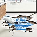 preiswerte Wand-Sticker-Dekorative Wand Sticker / Bodenaufkleber - 3D Wand Sticker Landschaft / 3D Wohnzimmer / Schlafzimmer / Badezimmer