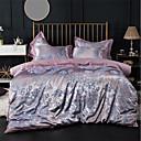 preiswerte Luxus Duvet Covers-Bettbezug-Sets Luxus 100% Baumwolle / Seide / Baumwolle / Baumwolle Jacquard Bedruckt & Jacquard 4 StückBedding Sets / 300 / 4-teilig (1 Bettbezug, 1 Bettlaken, 2 Kissenbezüge)