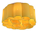 cheap Oil Paintings-QIHengZhaoMing 6-Light Flush Mount Ambient Light Painted Finishes Metal Fabric Crystal 110-120V / 220-240V Warm White Bulb Included