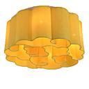 olcso Olajfestmények-QIHengZhaoMing 6-Light Mennyezeti lámpa Háttérfény - Kristály, 110-120 V / 220-240 V, Meleg fehér, Az izzó tartozék
