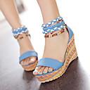 povoljno Ženske sandale-Žene Cipele PU Ljeto Udobne cipele Sandale Wedge Heel Obala / žuta / Plava