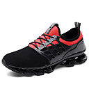 cheap Men's Sneakers-Men's Knit / PU(Polyurethane) Fall Comfort Athletic Shoes Running Shoes / Walking Shoes Black / Black / Red / Black / Green