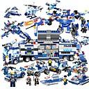 olcso Building Blocks-Építőkockák 825 pcs Járművek Enyhíti ADD, ADHD, a szorongás, az autizmus Dekompressziós játékok Szülő-gyermek interakció Fiú Lány Játékok Ajándék