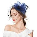 preiswerte Parykopfbedeckungen-Damen Retro / Elegant Haar Clip / Fascinator - Blume / Gitter Solide