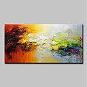 cheap Prints-Oil Painting Hand Painted - Abstract / Landscape Modern Canvas