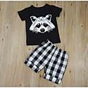 ieftine Set Îmbrăcăminte Băieți Bebeluși-Bebelus Băieți Activ Zilnic Imprimeu Manșon scurt Regular Poliester Set Îmbrăcăminte Negru 110 / Copil