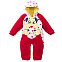 povoljno Baby Boys' One-Piece-Dijete Dječaci Osnovni Jednobojni Dugih rukava Poliester Jednodijelno Red 90 / Dijete koje je tek prohodalo