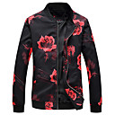 cheap Men's Bracelets-Men's Plus Size Jacket - Floral / Botanical Stand / Long Sleeve