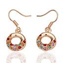 tanie Zestawy biżuterii-Damskie Cyrkonia Kolczyki wiszące - Pokryte różowym złotem Pączki Modny Różowe złoto Na Prezent / Codzienny