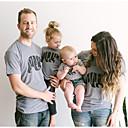 ieftine Set Îmbrăcăminte De Familie-Copil Familie Uite Mată / Geometric Manșon scurt Tricou