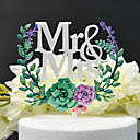 cheap Xbox 360 Accessories-Cake Topper Classic Theme / Wedding Cut Out Acryic / Polyester Wedding / Anniversary with Acrylic 1 pcs PVC Box