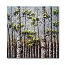 tanie Obrazy olejne-Hang-Malowane obraz olejny Ręcznie malowane - Kwiatowy / Roślinny Nowoczesne / Nowoczesny Płótno / Rozciągnięte płótno