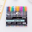 baratos Escrita-Pen gel Caneta Caneta, Plásticos Multi Cores cores de tinta Para material escolar Material de escritório Pacote de  16 pcs