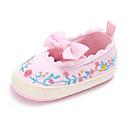 ieftine Pantofi Fetițe-Fete Pantofi Pânză Primăvara & toamnă Confortabili / Primii Pași / Pantofi Moi Pantofi Flați Funde / Flori / Găuri pentru Bebeluș Alb / Negru / Roz / Nuntă / Party & Seară