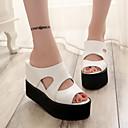 povoljno Ženske sandale-Žene Cipele PU Ljeto Udobne cipele Sandale Creepersice Obala / Crn / Sive boje