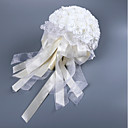 preiswerte Hochzeitsblumen-Hochzeitsblumen Sträuße Hochzeit Seide wie Satin / Spitze / Schaum 11-20 cm