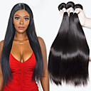 cheap Natural Color Hair Weaves-4 Bundles Indian Hair Straight Human Hair Natural Color Hair Weaves / Hair Bulk / Extension 8-28 inch Black Natural Color Human Hair Weaves Machine Made Classic / Best Quality / New Arrival Human