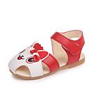ieftine Pantofi Fetițe-Fete Pantofi PU Vară Confortabili Sandale Plimbare Imprimeu Animal / Bandă Magică pentru Copil Rosu / Roz