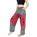 cheap Modern Shoes-Women's Harem Yoga Pants - Royal Blue, Burgundy, Dark Green Sports Bohemian Bottoms Pilates, Fitness, Dance Activewear Breathable, Sweat-wicking, Comfortable Stretchy