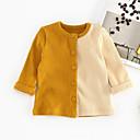 ieftine Top Băieți Bebeluși-Bebelus Băieți Activ Bloc Culoare Manșon Lung Bumbac / Poliester Tricou Roz Îmbujorat 90