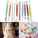 billige Bakeredskap-10 stk kake dekorasjonsverktøy gravering sett sflower bakverk skulptur diy bakeverktøy