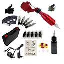 cheap Starter Tattoo Kits-BaseKey Tattoo Machine Starter Kit - 1 pcs Tattoo Machines with 1 x 30 ml tattoo inks, Quiet, Adjustable Fit, Fast Charging Aluminum Alloy Power plug Case Included 20 W 1 rotary machine liner & shader