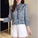 billige Moderinge-Høj krave Dame - Blomstret Bluse