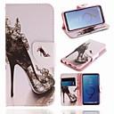 ieftine Cazuri telefon & Protectoare Ecran-Maska Pentru Samsung Galaxy S9 Portofel / Titluar Card / Cu Stand Carcasă Telefon dantelă de imprimare Greu PU piele pentru S9
