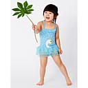 رخيصةأون ملابس سباحة البنات-فتيات نشيط هندسي ملابس السباحة, بوليستر بدون كم أزرق وردي بلاشيهغ