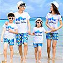 ieftine Set Îmbrăcăminte De Familie-Familie Uite Activ Plajă Scrisă Manșon scurt Set Îmbrăcăminte