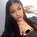 cheap Human Hair Wigs-Human Hair Glueless Lace Front / Lace Front Wig Brazilian Hair Straight Wig 130% With Baby Hair / Natural Hairline / Glueless Women's Short / Medium Length / Long Human Hair Lace Wig