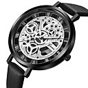 cheap Fashion Watches-Geneva Women's Dress Watch / Wrist Watch Chinese Hollow Engraving / Casual Watch / Cool Leather Band Casual / Fashion Black / Brown