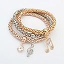 cheap Bracelets-Women's Layered Chain Bracelet - Music Notes Fashion, Multi Layer Bracelet Gold For Ceremony / School / 3pcs