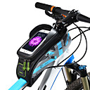 cheap RC Parts & Accessories-ROCKBROS Bike Frame Bag 5.8/6.0 inch Touch Screen, Waterproof Cycling for Cycling Green