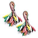 billige Koblinger & terminaler-20 stykker og 5 farger test bly sett& alligator klipp