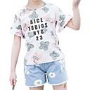 tanie Zestawy ubrań dla dziewczynek-Dzieci Dla dziewczynek Podstawowy Nadruk Nadruk Krótki rękaw Bawełna Komplet odzieży