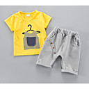 ieftine Set Îmbrăcăminte Băieți Bebeluși-Bebelus Unisex Activ Zilnic Dungi Manșon scurt Regular Poliester Set Îmbrăcăminte Alb 100 / Copil